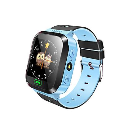 Barneklokker GPS Pekeskjerm Pedometere Distanse måling Anti-lost Beskjedkontroll Håndfri bruk Lang Standby Aktivitetsmonitor Søvnmonitor