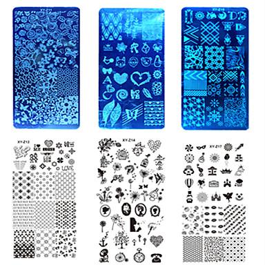 10pcs/set Utarbeidelse Verktøy og tilbehør / Maletilbehør / Verktøy og tilbehør Mal Nail Art Design Stilig Design Stilfull / Tilbehør / Høy kvalitet / stempling Plate