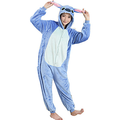 966501c954 Adults  Kigurumi Pajamas Cartoon Blue Monster Onesie Pajamas Flannel Toison  Blue Cosplay For Men and