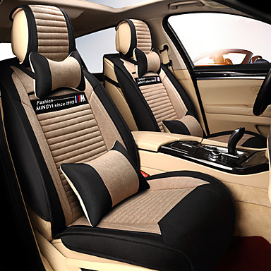 abordables Accessoires Intérieur de Voiture-coussin de siège linge coussin de voiture housse de siège quatre saisons universel respirant et confortable un ensemble de cinq