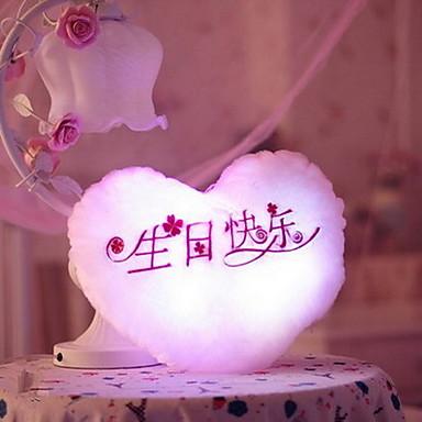 Hjerte LED-belysning Kosedyr Nuttet LED-belysning Flourescent Kreativ Selvlysende Smuk Lysrør Glamorøs & Dramatisk Tegneserie Spesiell Søt