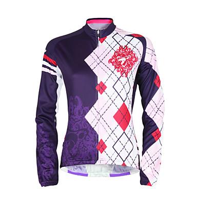 TASDAN Damen Langarm Fahrradtrikot Fahhrad Trikot / Radtrikot, Rasche Trocknung, UV-resistant, Atmungsaktiv