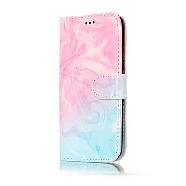 Capinha Para Samsung Galaxy A5(2017) A3(2017) Porta-Cartão Carteira Com Suporte Flip Capa Proteção Completa Mármore Rígida PU Leather para