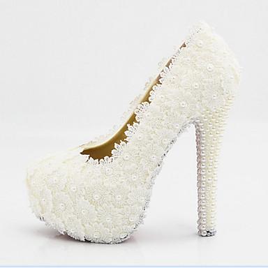 Mulheres Sapatos Seda Primavera / Verão Conforto / Inovador Saltos Caminhada Salto Agulha / Plataforma / Salto Alto com Jóias Ponta