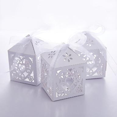 12 Piesă/Set Favor Holder-Cubic Hârtie perlă Cutii de Savoare