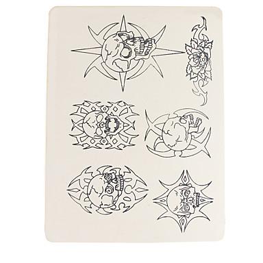 Dragonhawk® tatuagem acessórios 10 x permanente maquiagem tatuagem prática skins fornecer crânio padrão