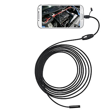 3 in 1 6 LEDs 5.5mm 5M Android Endoscope OTG Micro USB Inspection Camera IP66 #05678238