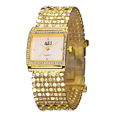 ASJ Women's Bracelet Watch Japanese Imitation Diamond Alloy Band Luxury / Sparkle / Elegant Gold