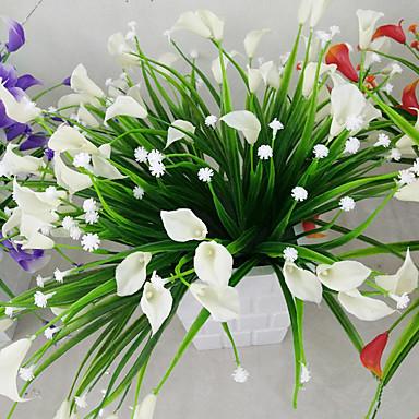 Flores artificiais 1 Ramo Estilo Moderno Lírios Flor de Mesa