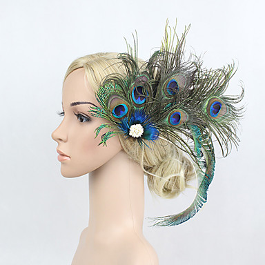7dd6159ba72a3 Rhinestone   Feather   Alloy Flowers   Headwear   Hair Clip with Floral 1pc  Special Occasion Headpiece