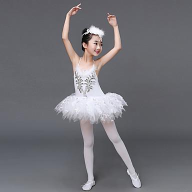 رقص الباليه الفساتين أداء سباندكس / تول كشاكش / شىء صغير براق بدون كم ارتفاع عال فستان / أغطية الرأس