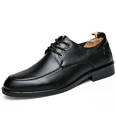 남성용 구두 레더렛 겨울 봄 여름 가을 수소 신발 옥스포드 워킹화 결혼식 캐쥬얼 파티/이브닝 용 블랙 어두운 무늬