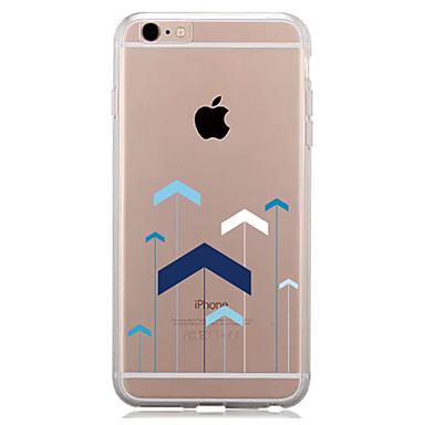 Capinha Para Apple iPhone 7 Plus iPhone 7 Transparente Estampada Capa traseira Estampa Geométrica Macia TPU para iPhone 7 Plus iPhone 7