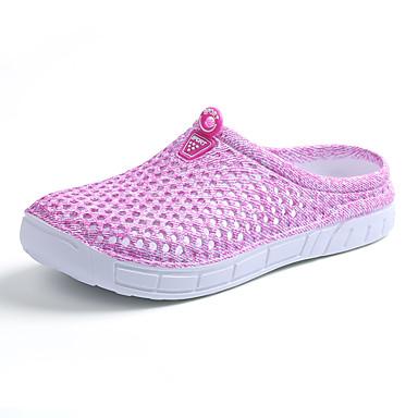 Mulheres Sapatos Couro Ecológico Verão Conforto Sandálias para Ao ar livre Azul Claro Cinzento Roxo Rosa claro