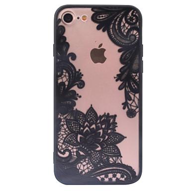 עבור iPhone X iPhone 8 iPhone 6 iPhone 6 Plus מגן אייפון5 כיסויים מכסים ל שקוף תבנית כיסוי אחורי מגן הדפסת תחרה קשיח PC ל Apple iPhone X