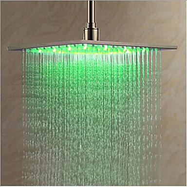 Moderna Chuveiro Tipo Chuva Cromado Característica - LED, Lavar a cabeça