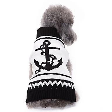 قط / كلب البلوزات ملابس الكلاب بحار أبيض الاكريليك وألياف كوستيوم للحيوانات الأليفة للرجال / للمرأة كاجوال / يومي / موضة