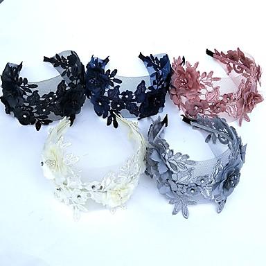 دانتيل / حجر الراين بندانة رأس / زهور / أغطية الرأس مع ورد 1PC زفاف / مناسبة خاصة خوذة
