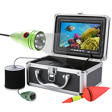 mountainone® 50m 1000tvl underwater فيديو كاميرا صيد 6 قطع قاد الاضواء with7 بوصة لون الشاشة