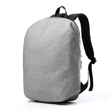 cheap Highly Recommended-Tuguan 15.6 Inch Laptop Commuter Backpacks Textile Solid Color for Business Office for Colleages & Schools for Travel Shock Proof