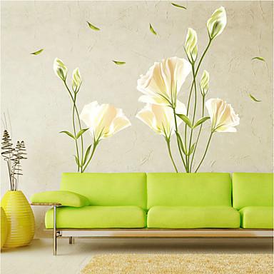 Romance Floral Botânico Adesivos de Parede Autocolantes de Aviões para Parede Autocolantes de Parede Decorativos, Vinil Decoração para
