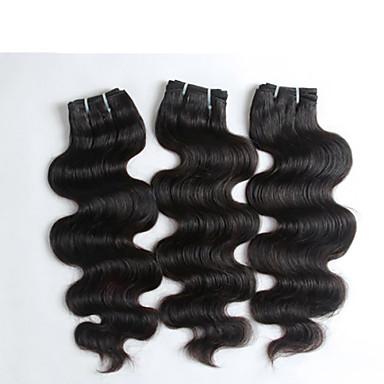 3 τεμάχια / παρτίδα 100% των μη επεξεργασμένων ειδών υψηλής ποιότητας κύμα σωμάτων indian μαλλιά, κορυφαίας ποιότητας Virgin ινδική τρίχα