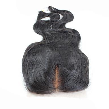 Κλασσικά Κυματομορφή Σώματος Πλήρης Δαντέλα Ελβετική δαντέλα Φυσικά μαλλιά Υψηλή ποιότητα Καθημερινά