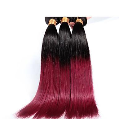 longueur mélanger 12-26inch 1b / 530 # ombre tout droit brésilien de cheveux vierges