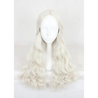 الاصطناعية الباروكات / باروكات مخصصة مجعد شعر مستعار صناعي بني شعر مستعار للمرأة متوسط دون غطاء