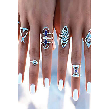 للمرأة خاتم - سبيكة قديم قابل للتعديل فضي من أجل يوميا / فضفاض