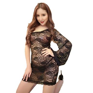 Women's Suits Nightwear Jacquard-Thin Black