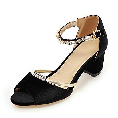 f9e301b0bb37 Žene Cipele Flis Proljeće   Ljeto D Orsay cipele Sandale Kockasta potpetica  Peep Toe Štras Crn   Crvena   Crvena   Zabava i večer