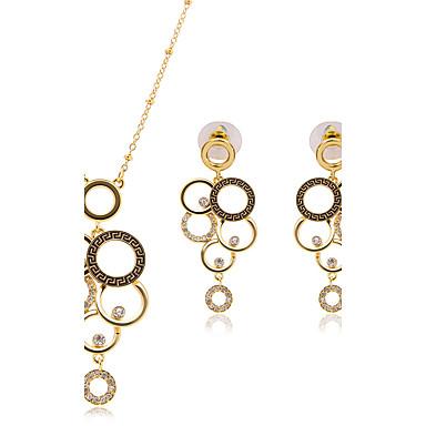 Mulheres Conjunto de jóias - Básico Incluir Sets nupcial Jóias Dourado Para Festa / Colares