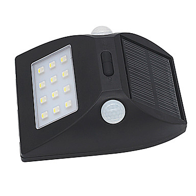 3W Focos de LED Sensor infravermelho / Instalação Fácil / Impermeável Branco Natural / Multicolorido Iluminação Externa