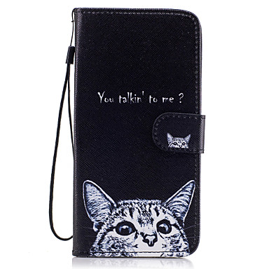 Capinha Para Samsung Galaxy S8 Plus / S8 Carteira / Porta-Cartão / Com Suporte Capa Proteção Completa Gato Rígida PU Leather para S8 Plus / S8 / S7 edge