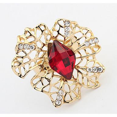 Damen Ring Bandring Synthetischer Diamant Personalisiert Blumig Einzigartiges Design Logo Stil Blumen Stil Klassisch Retro Böhmische