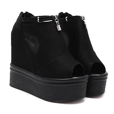 여자의 발 뒤꿈치는 합성 캐주얼 블랙 크리퍼