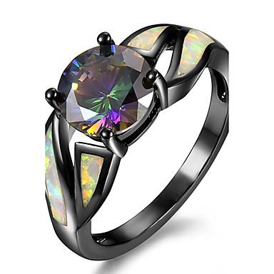 Mulheres Opal Synthetic Cobre Chapeado Dourado Anel de noivado Anel - Irregular Personalizada Luxo Euramerican Fashion Cores Sortidas Anel