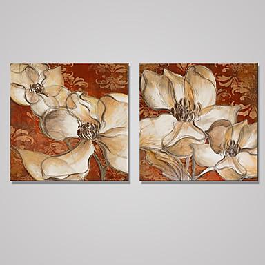 스트레치 캔버스 프린트 플로랄/보타니칼 전통적인 유럽 스타일,2판넬 캔버스 프린트 벽 장식 For 홈 장식