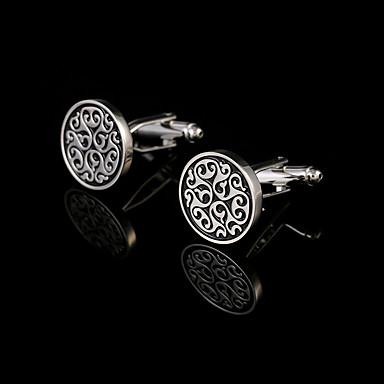 Forma Geométrica Prata Botões de Punho Cobre Caixas de presente e Bolsas / Fashion Homens Jóias de fantasia Para