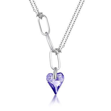 Naisten Riipus-kaulakorut Korut Heart Shape Korut Kristalli Metalliseos Uniikki Muoti Euramerican Korut Käyttötarkoitus Party Muuta