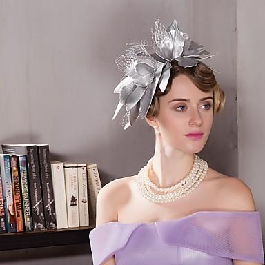 billige Hodeplagg til fest-Leather Kentucky Derby Hat / fascinators / Hatter med 1 Bryllup / Spesiell Leilighet / Avslappet Hodeplagg