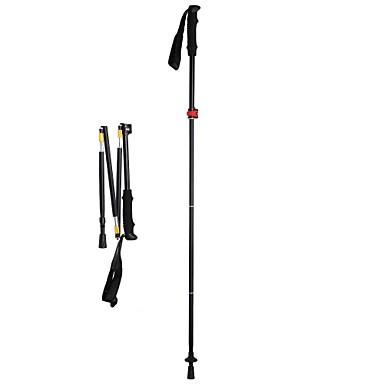 3pcs Bengalas para Caminhar Nórdicas 135 centímetros (53 polegadas) Húmido Dobrável Ajustável Peso Leve Liga de Alúminio Acampar e
