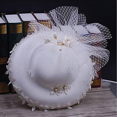 Tule / Tecido / Rede Chapéus com 1 Casamento / Ocasião Especial / Casual Capacete