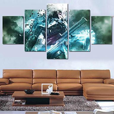 Kunstdrucke Abstrakt Modern,Fünf Panele Horizontal Druck Wand Dekoration For Haus Dekoration