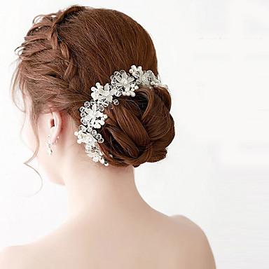 Imitação de Pérola Acrílico Tiaras Headbands Ferramenta de cabelo Cadeia da cabeça 1 Casamento Ocasião Especial Ao ar livre Capacete