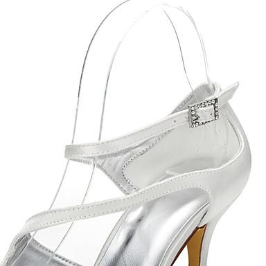 club amp; Ivoire 05844829 Bout Bout Dyeable Soirée ouvert Chaussures Aiguille Chaussures Eté Evénement de Mariage Chaussures Confort Soie Printemps Chaussures mariage rond de Talon Femme qXHfBwx