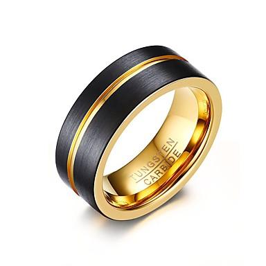 Homens Anel - Personalizada, Básico, Estilo simples 8 / 9 / 10 Dourado / Preto / Cores Sortidas Para Festa / Aniversário / Parabéns