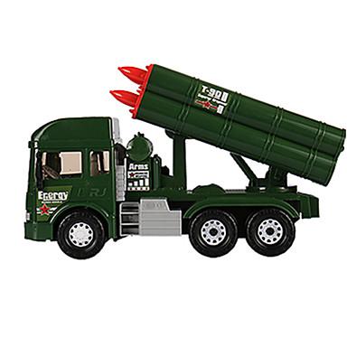سيارة حربية صاروخ الناقل لعبة الشاحنات ومركبات البناء لعبة سيارات 1:25 الموسيقى والضوء بلاستيك ABS 6 pcs للأطفال للجنسين صبيان فتيات ألعاب هدية