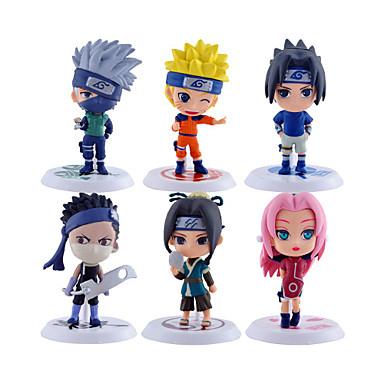 cheap Anime Action Figures-Anime Action Figures Inspired by Naruto Naruto Uzumaki PVC 6.5 CM Model Toys Doll Toy